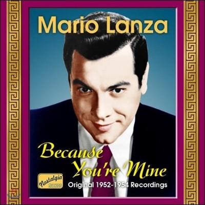 마리오 란자 1952-54년 오리지널 레코딩 (Mario Lanza - Because You're Mine)