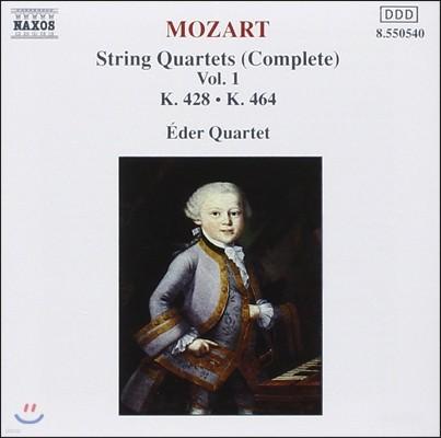 Eder Quartet 모차르트: 현악 사중주 전곡 1집 - 18번, 16번 '하이든 사중주' (Mozart: String Quartets Complete Vol.1 - K.428 & 464 'Haydn')