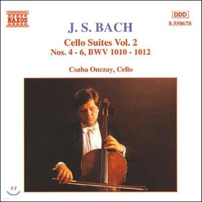Csaba Onczay 바흐: 무반주 첼로 모음곡 2집 4-6번 (Bach: Cello Suites Vol.2 BWV1010-1012) 차바 온차이