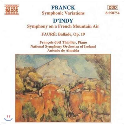 Francois-Joel Thiollier 프랑크: 교향적 변주곡 / 뱅상 댕디: 프랑스 산사람의 노래 교향곡 (French Music For Piano & Orchestra)