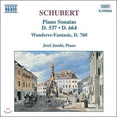Jeno Jando 슈베르트: 피아노 소나타 4번, 13번, 방랑자 환상곡 - 예뇌 얀도 (Schubert: Piano Sonatas D537, D664, Wanderer-Fantasie D760)