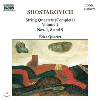 Eder Quartet 쇼스타코비치: 현악 사중주 전곡 2집 - 1, 8, 9번 (Shostakovich: Complete String Quartets Vol.2 - Op.49, 110, 117)