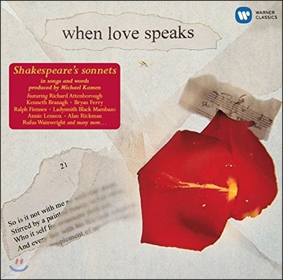 Barbara Bonney 셰익스피어 서거 400주년 기념반 - 소네트 낭송과 노래 (When Love Speaks - Shakespeare's Sonnets in Songs and Words)