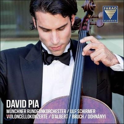 David Pia 브루흐: 콜 니드라이 / 달베르: 첼로 협주곡 / 도흐나니: 첼로 소협주곡 - 다비드 피아 (Bruch / D'Albert / Dohnanyi: Cello Concertos)