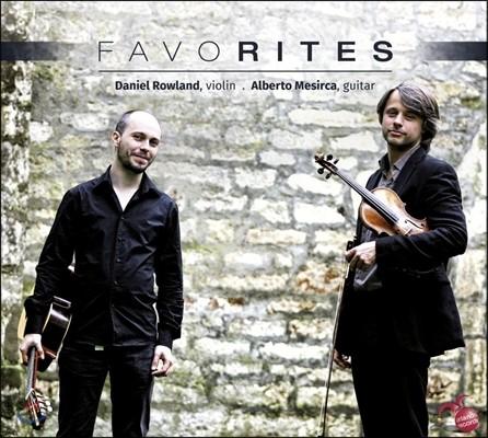 Daniel Rowland / Alberto Mesirca 파가니니 / 파야 / 피아졸라 / 줄리아니: 바이올린과 기타를 위한 음악