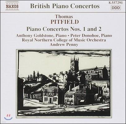 Anthony Goldstone / Peter Donohoe 토마스 피트필드: 피아노 협주곡 1, 2번 '학생' (Thomas Pitfield: Piano Concertos, Studies on an English Dance Tune)