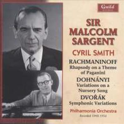 라흐마니노프: 파가니니 광시곡, 드보르작: 교향적 변주곡 (Rachmaninov: Paganini-Rhapsodie Op.43, Dvorak: Symphonische Variationen Op.78) - Malcolm Sargent