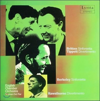 Norman Del Mar 마이클 티펫 / 앨런 로손 / 브리튼 / 레녹스 버클리: 신포니에타, 디베르티멘토 (Britten: Sinfonietta / Tippett: Divertimento / Berkeley / Rawsthorne)
