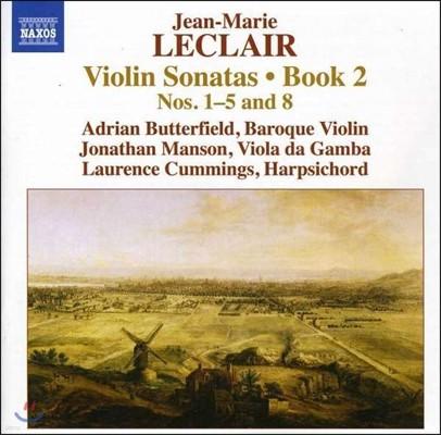 Adrian Butterfield 장-마리 르클레르: 바이올린 소나타 2권 1-5번, 8번 (Jean-Marie Leclair: Violin Sonatas Book 2 Nos.1-5 & 8)