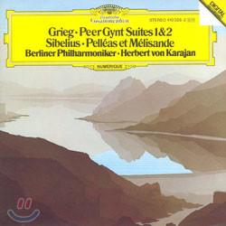 Herbert Von Karajan 그리그 : 페르귄트 모음곡 / 시벨리우스 : 펠리아스와 멜리장드 - 카라얀 (Grieg : Peer Gynt Suites 1 & 2 / Sibelius : Pelleas Et Melisande)