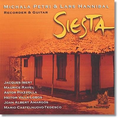 Michala Petri 기타와 리코더를 위한 라틴 클래식 (Siesta) 미칼라 페트리