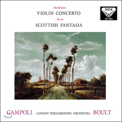 Alfredo Campoli / Adrian Boult 멘델스존: 바이올린 협주곡 / 브루흐: 스코틀랜드 환상곡 - 알프레도 캄폴리 (Mendelssohn: Violin Concerto / Bruch: Scottish Fantasy)