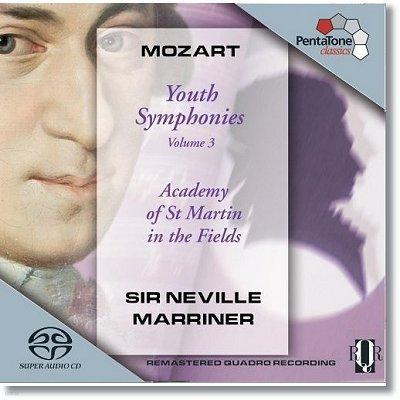 모차르트 : 초기 교향곡 3집 7,8,9,19번 - 네빌 마리너 (SACD)