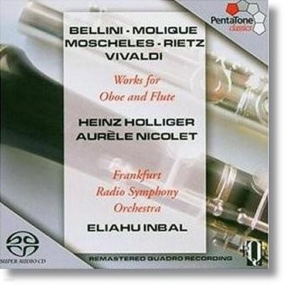 Heinz Holliger 오보에 협주곡집 : 벨리니 밀리크, 모쉘레, 비발디 외 - 하인츠 홀리거, 이무지치 (Works For Oboe And Flute)