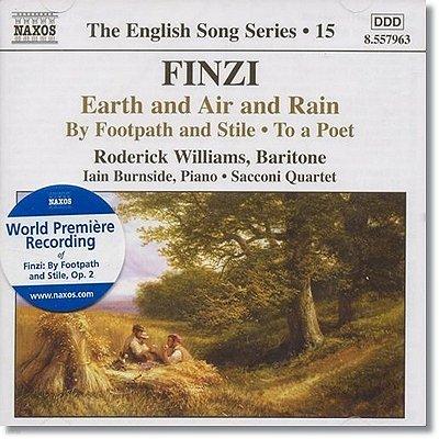 Roderick Williams 제럴드 핀치: 토마스 하디의 시에 기초한 가곡 (Gerald Finzi: Earth and Air and Rain, Op. 15)