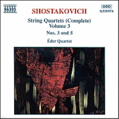 쇼스타코비치 : 현악 사중주 3, 5번 (Shostakovich : String Quartets Vol.3 - No.3 Op.73, No.5 Op.92) - Eder Quartet