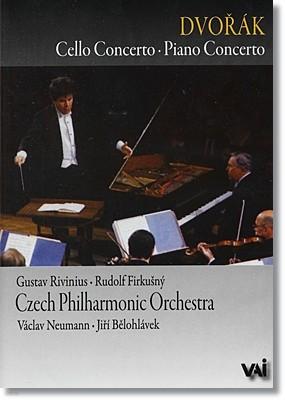 Vaclav Neumann / Jiri Belohlavek 드보르작: 첼로, 피아노 협주곡 - 체코 필하모닉 바츨라프 노이만 (Dvorak: Cello Concerto Op.104, Piano Concerto Op.33)