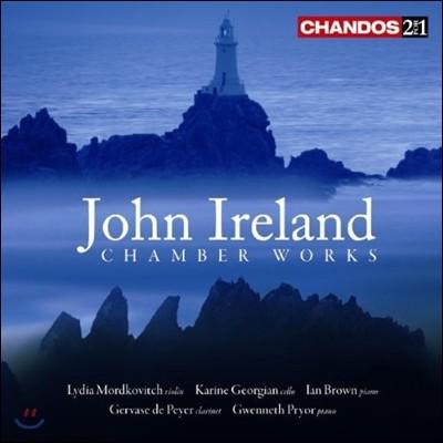Lydia Mordkovitch 존 아일랜드: 실내악 작품집 - 바이올린 소나타, 클라리넷 환상 소나타, 첼로 소나타 (John Ireland: Chamber Works - Violin Sonatas, Fantasy Sonata, Trio)
