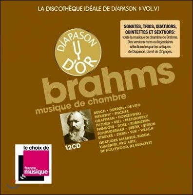 디아파종 - 브람스 실내악 명연주 박스세트 12CD (La Discotheque Ideale de Diapason Vol.6 - Brahms: Chamber Music)
