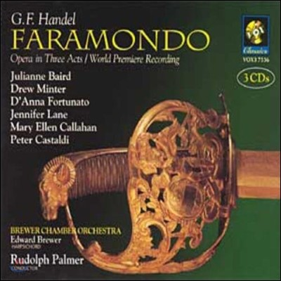 Rudolph Palmer / Julianne Baird 헨델: 오페라 '파라몬도' (Handel: Faramondo)