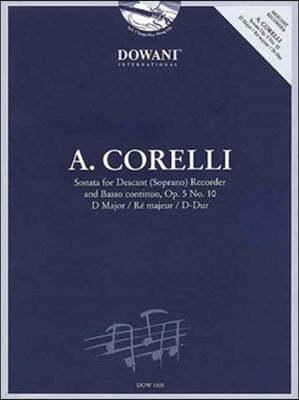 Sonata for Descant Soprano Recorder and Basso Continuo Op. 5, No. 10 D Major / Re Majeur / D-dur