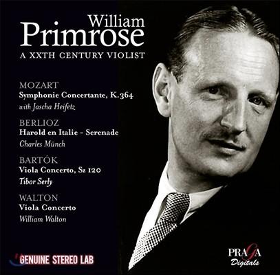 윌리엄 프림로즈: 20세기 비올리스트 - 모차르트 / 베를리오즈 / 바르톡 / 월튼 (William Primrose, A XXth Century Violist - Mozart / Berlioz / Bartok / Walton)