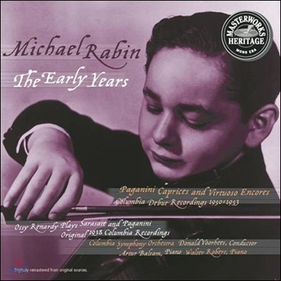 마이클 래빈 초기 레코딩 - 파가니니 / 크라이슬러 / 사라사테 / 드보르작 (Michael Rabin - The Early Years: Paganini / Kreisler / Sarasate / Dvorak)