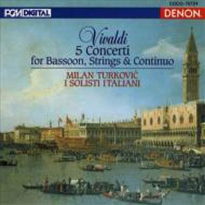 비발디: 바순 협주곡 (Vivaldi: 5 Bassoon Concertos) (일본반) - Milan Turkovic