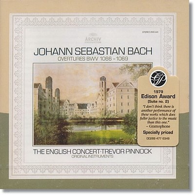 Trevor pinnock 바흐: 관현악 모음곡 전곡 (Bach: Overtures BWV1066-1069) 트레버 피노크