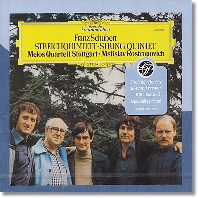 Melos Quartett / Mstislav Rostropovich 슈베르트: 현악 오중주 (Schubert: String Quintet in C major, D956)