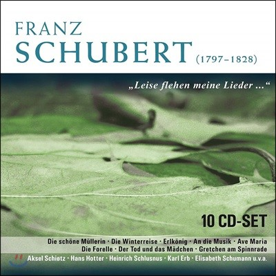 슈베르트 : 가곡 모음집 - 한스 호터 외 (Schubert : Leise Flehen Meine Lieder..)