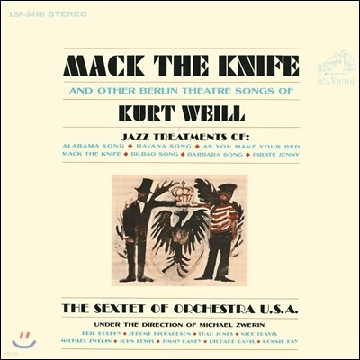 The Sextet Of Orchestra U.S.A. (섹스텟 오브 오케스트라 유에스에이) - Mack The Knife and Other Berlin Theatre Songs of Kurt Weill