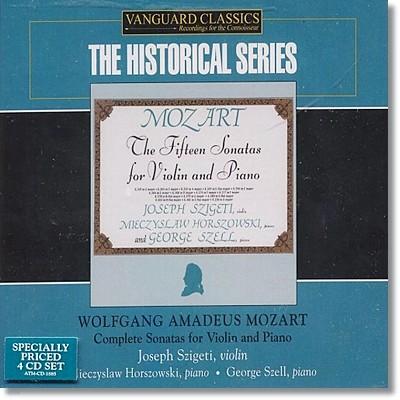 Joseph Szigeti 모차르트 : 바이올린과 피아노를 위한 소나타 전집 (The Historical Series)