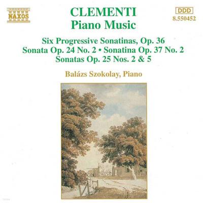 클레멘티 : 6 프로그레시브 피아노 소나티나 작품 36