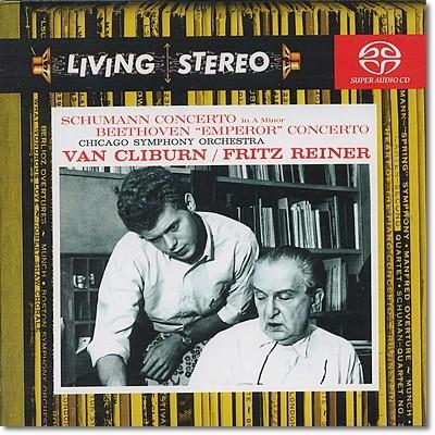 베토벤 : 피아노 협주곡 5번 '황제' / 슈만 - 반 클라이번 (SACD)
