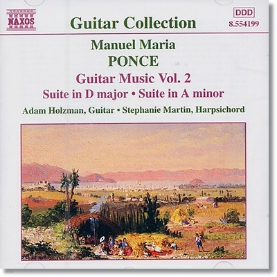 Adam Holzman 마누엘 폰세: 기타 음악 2집 (Manuel Ponce: Guitar Music, Vol. 2 - Suite in D major, A minor))