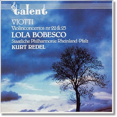 Lola Bobesco 비오티 : 바이올린 협주곡 22번, 23번 (Viotti : Violin Concerto no.22 no.23)