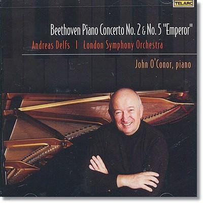 베토벤 : 피아노 협주곡 2번 & 5번 - 존 오코너