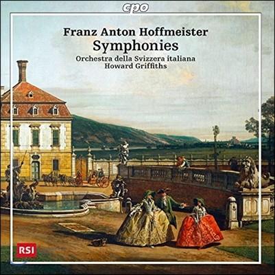 Howard Griffiths 프란츠 안톤 호프마이스터: 교향곡 C장조, D장조, '이타카의 왕자' 서곡 (Franz Anton Hoffmeister: Symphonies, 'Der Konigssohn aus Ithaka' Overture)