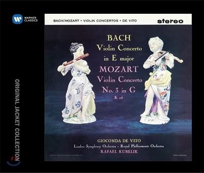 Gioconda de Vito 바흐: 바이올린 협주곡 2번 / 모차르트: 바이올린 협주곡 3번 (J.S. Bach / W.A. Mozart: Violin Concertos) 지오콘다 데 비토