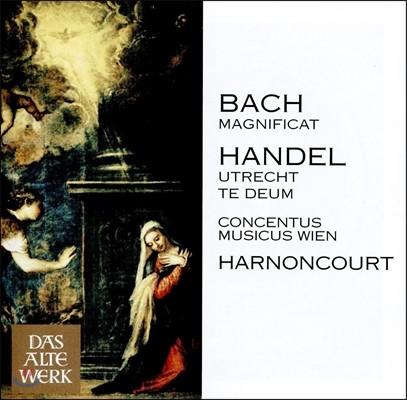 Nikolaus Harnoncourt 바흐: 마니피카트 BWV243 / 헨델: 위트레흐트 테데움 (J.S. Bach: Magnificat / Handel: Utrecht Te Deum) 니콜라우스 아르농쿠르, 콘첸투스 무지쿠스 빈