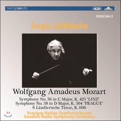 Sergiu Celibidache 모차르트: 교향곡 36번 '린츠', 38번 '프라하', 랜틀러풍 춤곡 (Mozart: Symphonies K.425 'Linz', K.504 'Prague', 6 Landlerische Tanze) 첼리비다케
