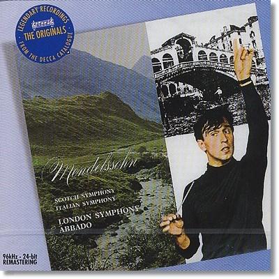 Claudio Abbado 멘델스존: 교향곡 3번 `스코틀랜드`, 4번 `이탈리아` (Mendelsshon : Symphony No.3 No.4) 클라우디오 아바도