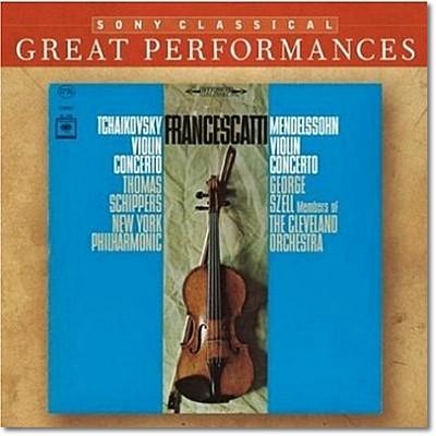 차이코프스키 / 멘델스존 : 바이올린 협주곡 - 프란체스카티, 죠지 셀
