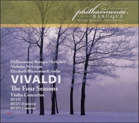 Elizabeth Blumenstock 비발디: 바이올린 협주곡 '사계', '총아', '연인' 등 (Vivaldi: The Four Seasons, Violin Concertos RV375, 277 Il Favorito, 271 L'Amoroso) 엘리자베스 블루멘스톡