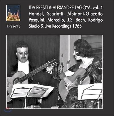 이다 프레스티와 알렉산더 라고야의 스튜디오 녹음 4집 - 헨델 / 스카를라티 / 바흐 / 로드리고 (Ida Presti & Alexandre Lagoya, Vol.4 - Handel, Scarlatti, Albinoni, J.S. Bach, Rodrigo)