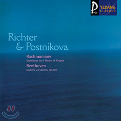 BeethovenㆍRachmaninov : Variations on a Theme of ChopinㆍDiabelli Variations: RichterㆍPostnikova