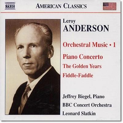 Leonard Slatkin 르로이 앤더슨: 피아노 협주곡, 나팔수의 휴일 (Leroy Anderson: Orchestral Works Volume 1)