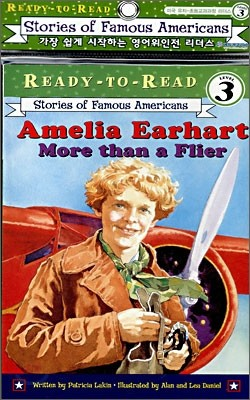 Ready-To-Read Level 3 : Amelia Earhart : More Than A Flier (Book + CD)