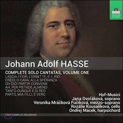 Hof-Musici 요한 아돌프 하세: 솔로 칸타타 전곡 1집 - 실내용 솔로 소나타 (Johann Adolf Hasse: Complete Solo Cantatas Vol.1) 호프 무지치